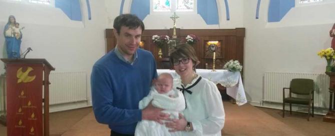 John, Anita and Baby Clodagh.