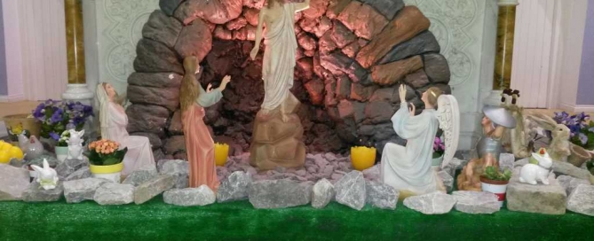 Easter Garden in St. Mary's Church
