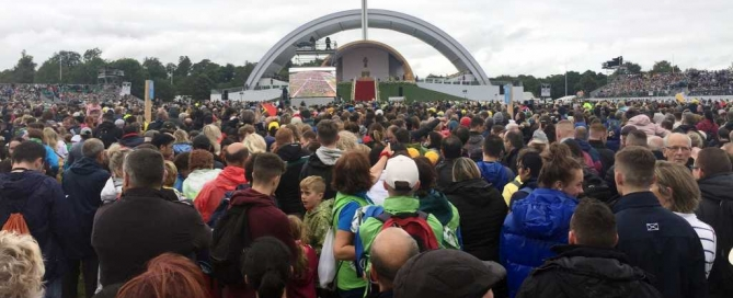 Approximately 130,000 people attended the Papal visit at the Phoenix Park.